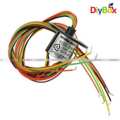 12,5 mm etc. Juguete inteligente 2 A para generador de e/ólicos 6,5 mm 6 wiros Anillo colector de c/ápsula de 6 circuitos de cables equipo de 300 rpm c/ámara de monitor