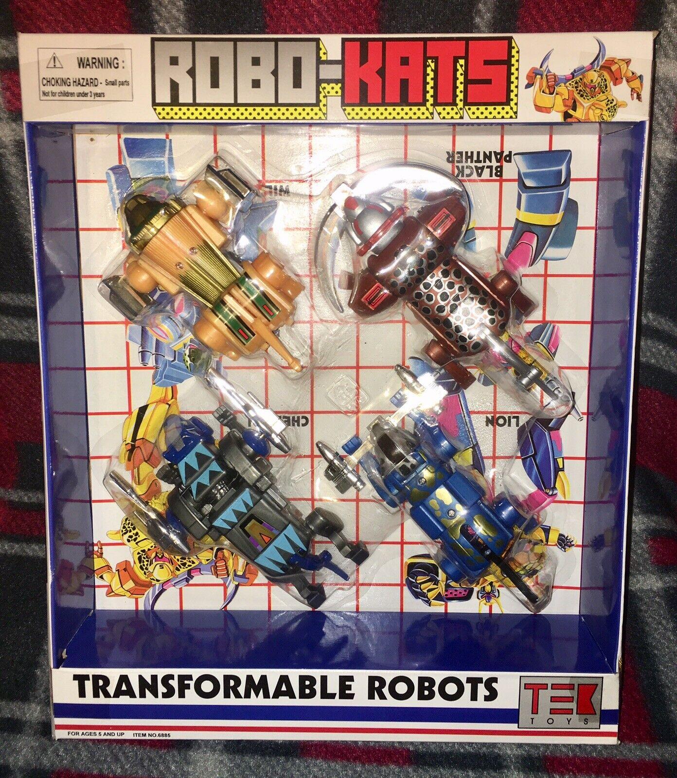 Robo-Kats Vintage Transformers KO Tek Toys Tiger NEW Misprint Package OOP HTF