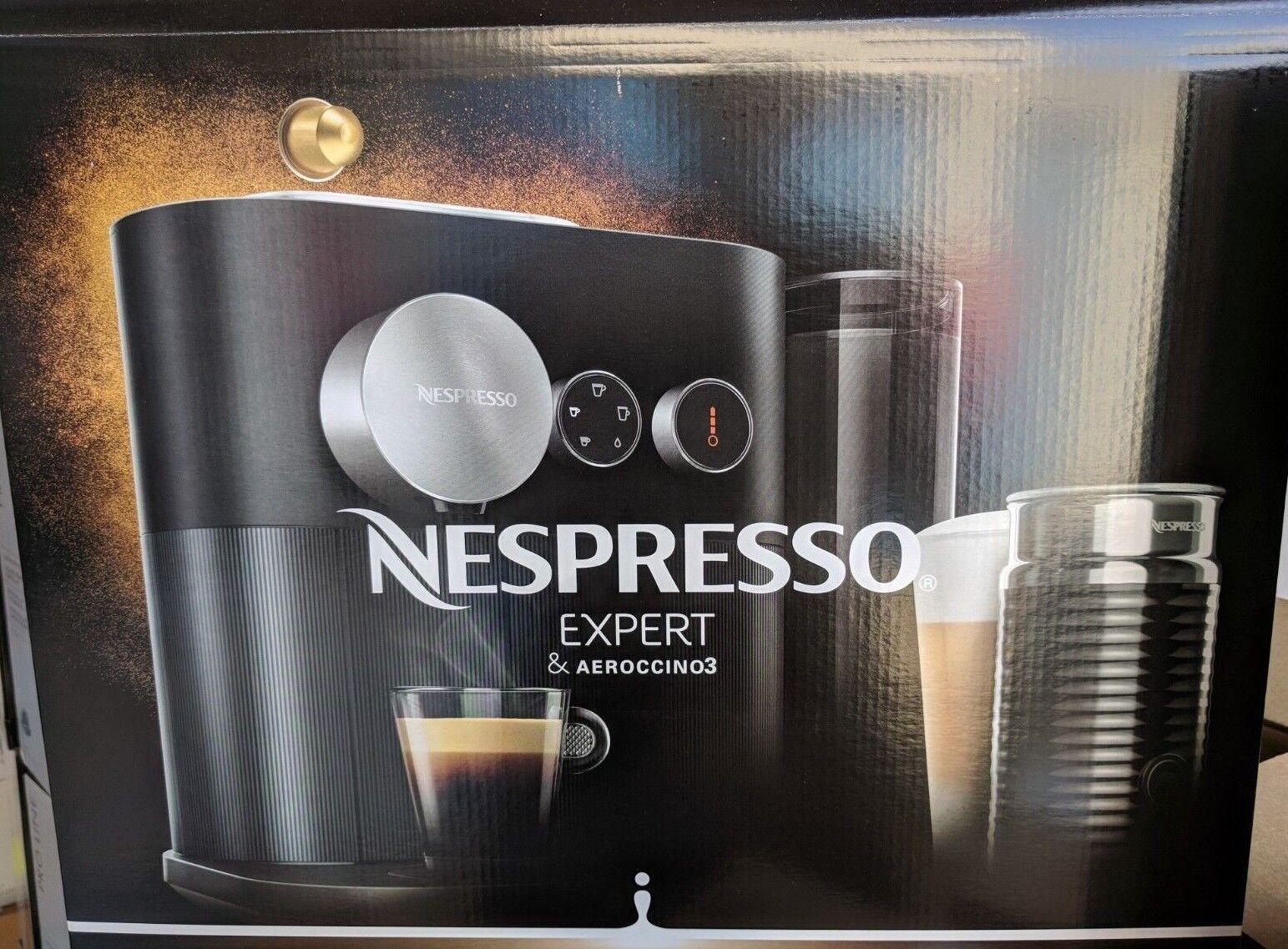 New & sealed Nespresso Expert & Aeroccino Milk Espresso Maker BEC750BLK1AUC1