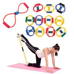 Fitness Resistance Band Rope Tube Elastic Exercise for Yoga Pilates Workout RW
