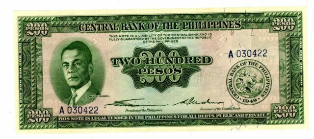 UNC Philippines 200 Piso P-140 1949