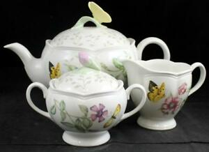 Lenox-China-BUTTERFLY-MEADOW-3-Piece-Assortment-GREAT-CONDITION-w-mfg-tags