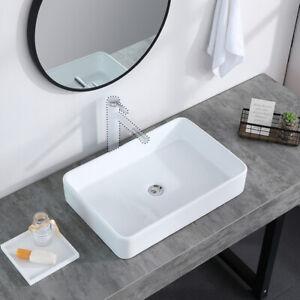 Bathroom Ceramic Vessel Sink Vanity Basin Above Counter Pop Up Drain Combo Stop Ebay