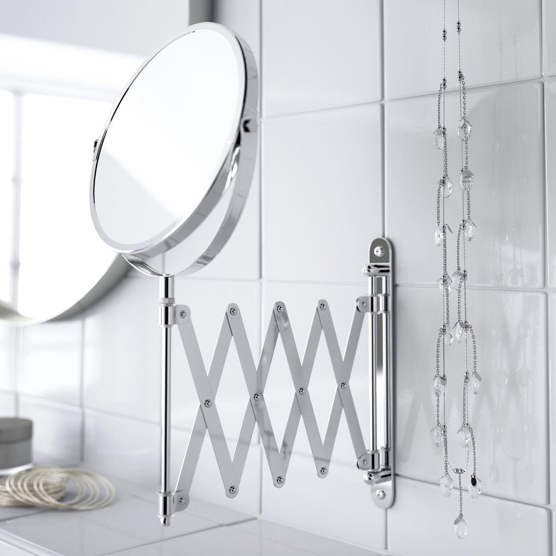 Extending Bathroom Mirror Shaving Wall Mounted Makeup Round ...