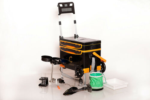 Angelbox mit Räder  Angelkoffer mit Rückenlehne  Kühlbox für Angler