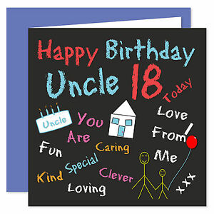 Image Is Loading Uncle Happy Birthday Card Age Range 18 60