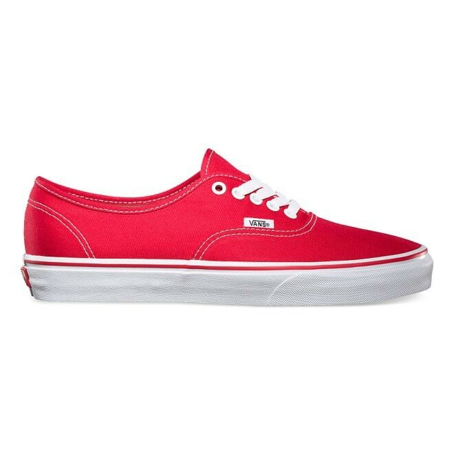 Vans Authentic Core Classic Canvas Red Skate Shoes Sneakers - VN000EE3RED1