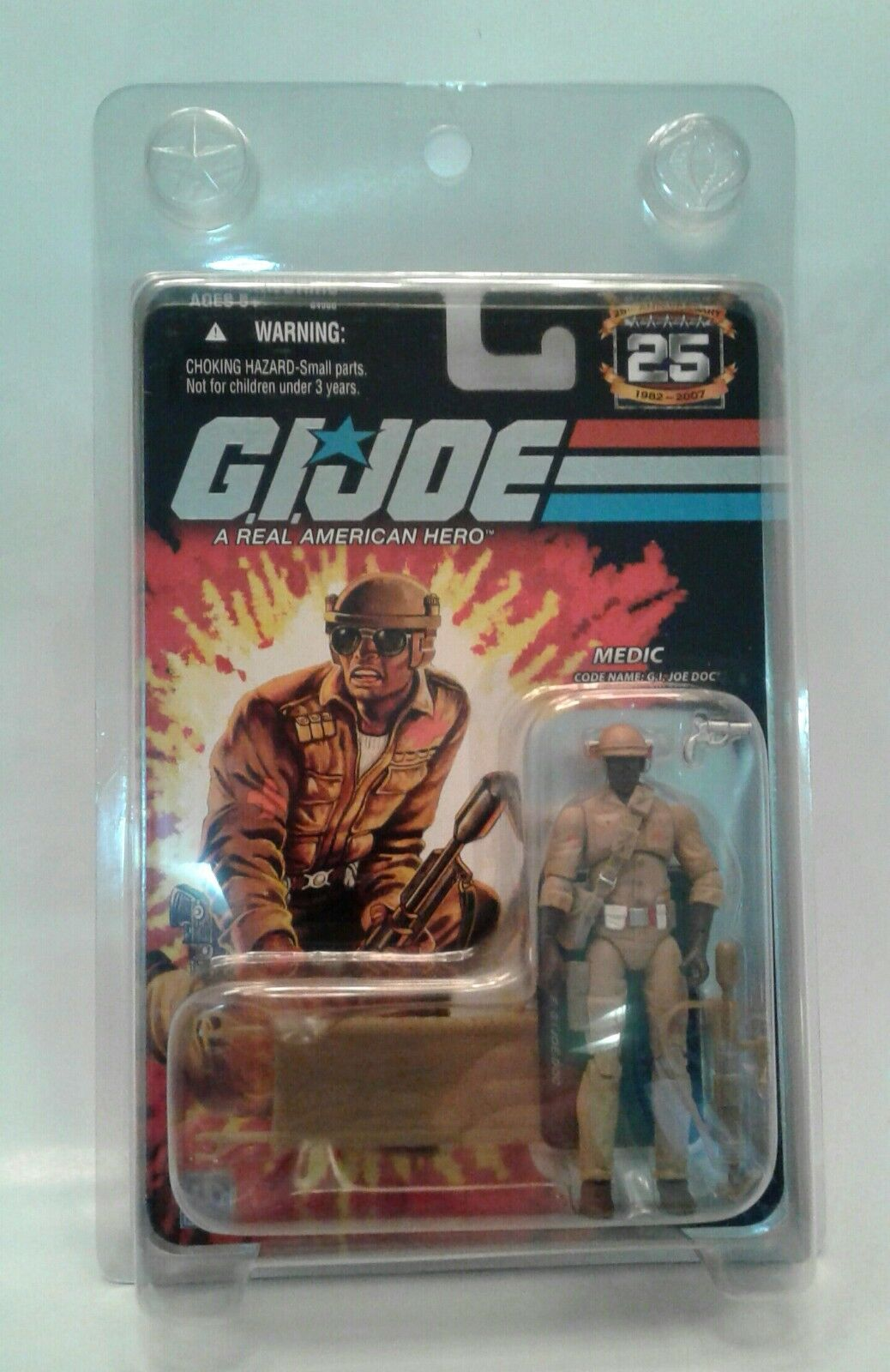 G.I. Joe Cobra 25th Anniversary Doc Medic Mail In EXCLUSIVE  SEALED  Hasbro HTF
