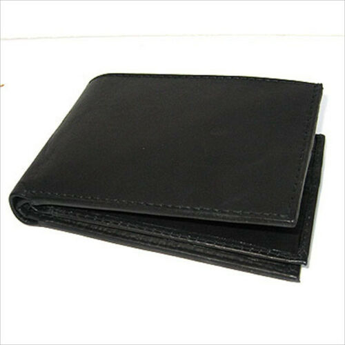 RFID Blocking Men/'s Leather Bifold Wallet 10 Credit Flip Top Holder
