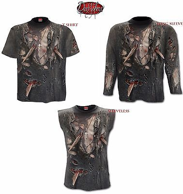 Spiral Direct ZOMBIE WRAP Long Sleeve/T Shirt/Sleeveless/Skull/Biker/Rock/Top