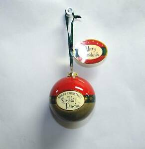 Lot-of-12-Pieces-Merry-Christmas-To-Special-Couple-Bauble-Ornaments