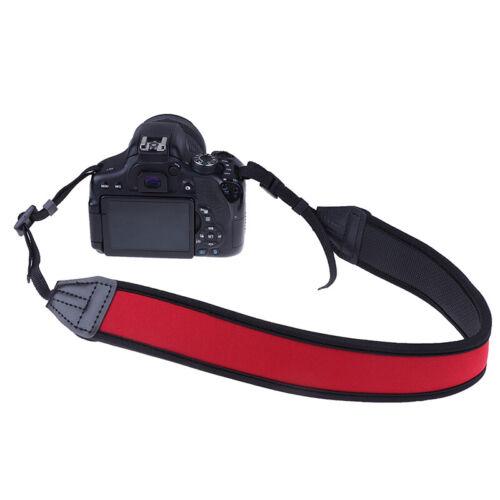 Correa de Cuello de Neopreno Rojo para Cámara Réflex Digital Binocular Nikon Canon Fuji /_ SJ