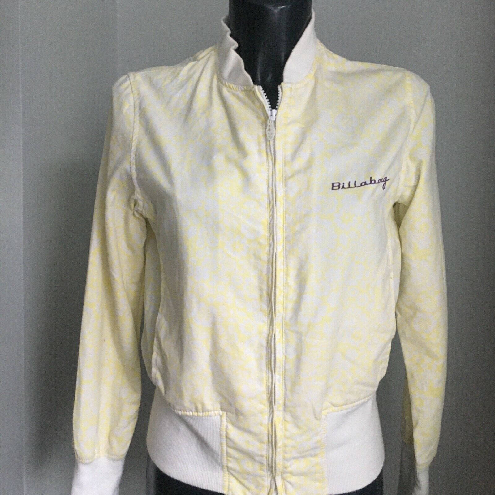 BILLABONG JACKET Light Womens Medium Uk 12 Lemon Yellow Coat Surf