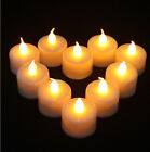 12 PCS LED Flameless Tealights Battery Operated Flickering Tea Light Candles AA