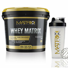 MATRIX WHEY - 100% PROTEIN POWDER - SHAKE - ANABOLIC MUSCLE GROWTH 5KG & 2.25KG