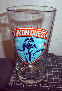 2017 Alaska Yukon Quest dog sled race Beer Glass Alaska Brewing Co 5.75 in tall