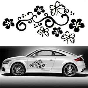 Image Is Loading 2pcs Butterfly Flower Vinyl Car Graphics Window Stickers