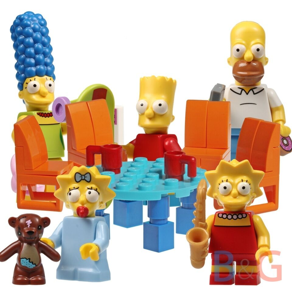 LEGO Simpsons Family 71005 + Round Table & 4x chairs from Simpsons House 71006