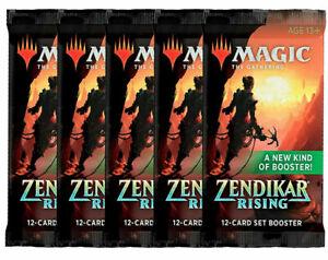 BRAND-NEW-MTG-Magic-SET-BOOSTER-PACKS-LOT-x5-Zendikar-Rising-ZNR