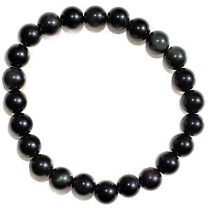 CHARGED-Goldsheen-Rainbow-Obsidian-Crystal-8mm-Bead-Bracelet-Stretchy-ENERGY