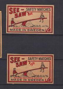 Anciennes étiquettes  allumettes Suède Journée Enfant