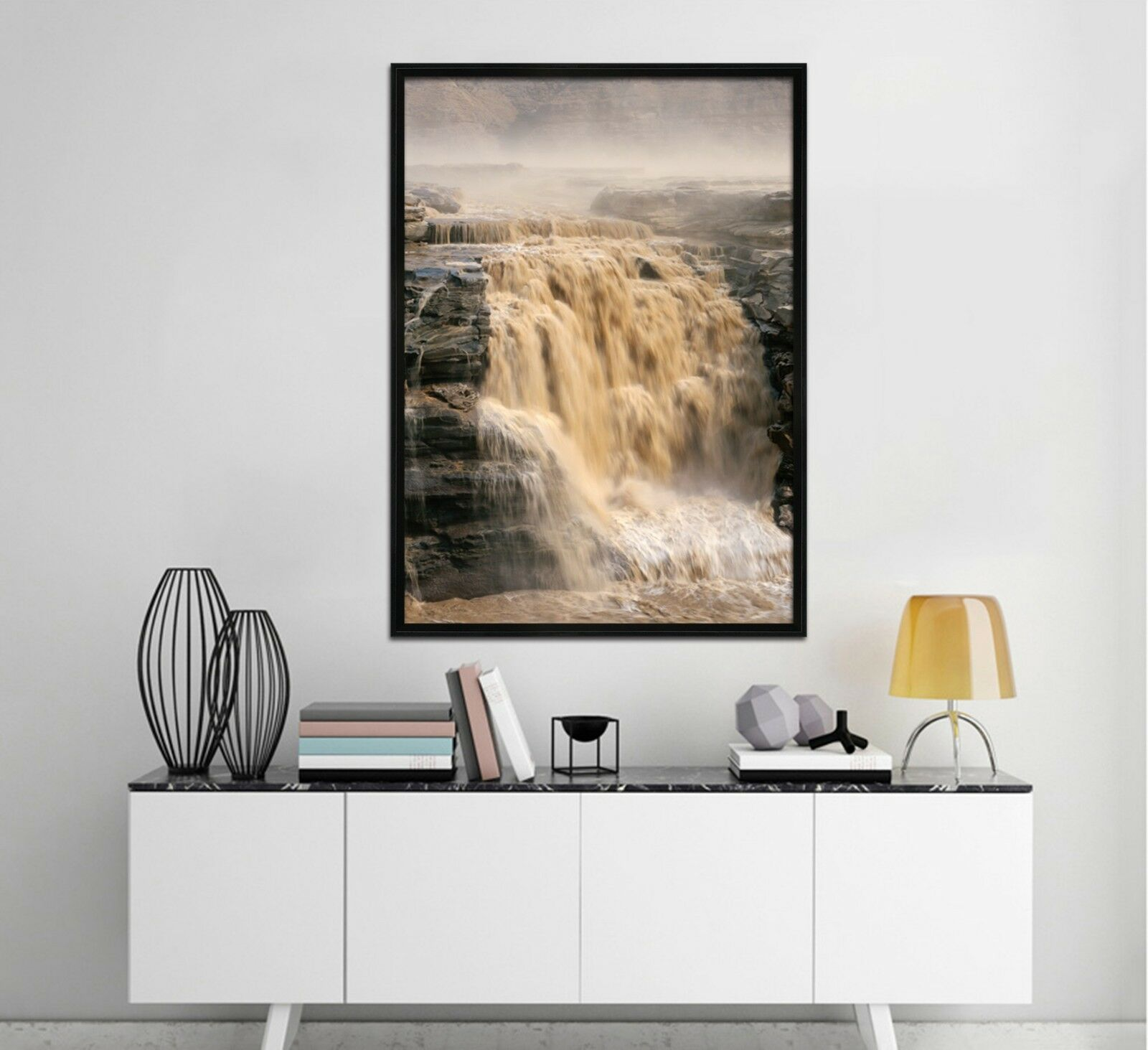 3D Yellow River Water 1 Framed Poster Home Decor Print Painting Art AJ WALLPAPER