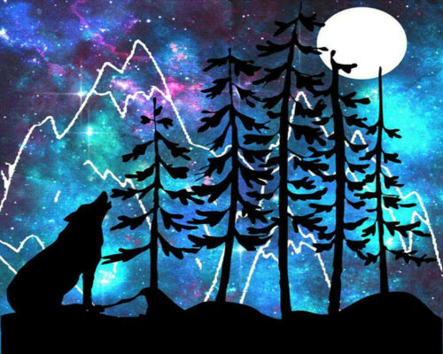 DIY Paint By Number Kit Digital Oil Painting Art Nature Night Scenery Home Decor