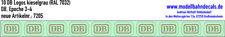 10 H0 Decals DB Logo 4,6 x 3,25 mm kieselgrau, Keks NEU 087-7205 Decals