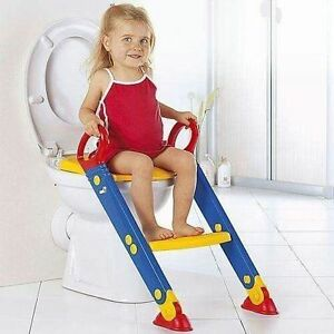 Childrens Toilet Seat & Ladder Toddler Training Step Up For Kids Easy Fold Down 5060457110818