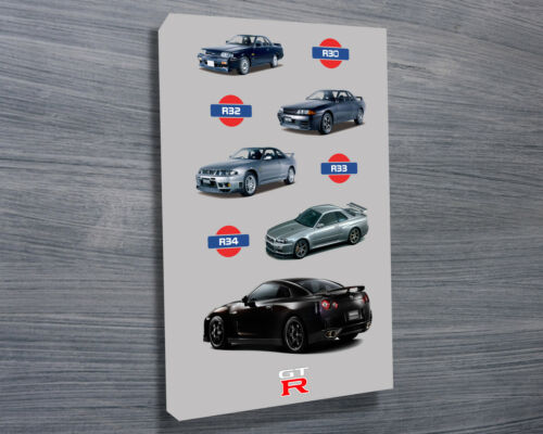 Nissan Skyline Collection 30x20 Inch Canvas - Framed Picture