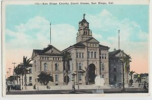 c1910-SAN-DIEGO-California-Ca-Postcard-SAN-DIEGO-COUNTY-COURT-HOUSE