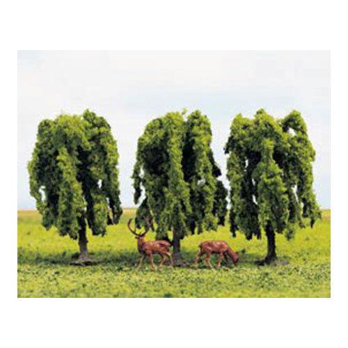3 OO Gauge Scenics GM185 GAUGEMASTER Tree Set Weeping Willow