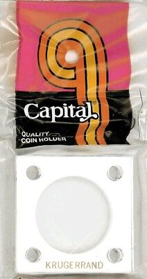 2x2 Capital Holder Plastic Snaplock For 1//20 Oz China Panda Coin White Capsule