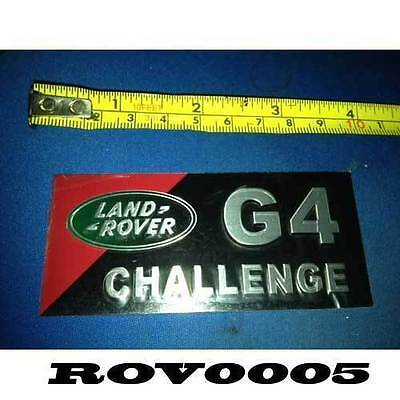 ROV0005 Landrover Metal High Relief Decal Frame Badge Sticker G4 Challenge