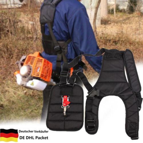 Nylon Doppel Schultergurt Tragegurt für Motorsense Freischneider Trimmer DHL