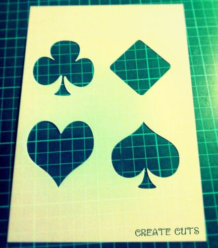 Jouer au poker cartes symboles Stencil Pique Clubs COEURS DIAMANTS Craft Art