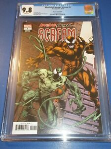 Absolute-Carnage-Scream-1-Bagley-Variant-Venom-CGC-9-8-NM-M-Gorgeous-Gem-Wow