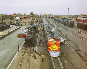 Albuquerque To Santa Fe >> Details About 20x24 Photo Santa Fe Railroad Super Chief Diesel Train Albuquerque Nm 1943 Dusk