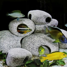 Hot Cichlid Stones Aquarium Ceramic Rock Cave Fish Tank Decoration M Size