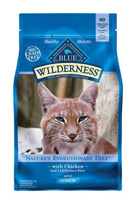 Blue Buffalo Blue Wilderness Indoor Chicken Dry Cat Food Grain Free 5 Lb.