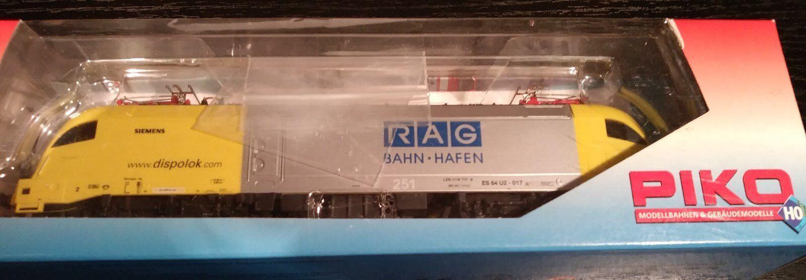 Piko HO 57422 E-Loc Siemens ES 64 U2-017 Dispolok  RAG Bahn Hafen