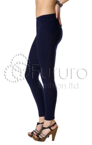 Femme Legging Long Coton Grandes Tailles 36-56 non transparent opaque sans pied