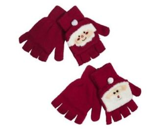 UNISEX-NOVELTY-STOCKING-FILLER-CHRISTMAS-PRESENT-SANTA-MITTEN-GLOVES-WARM-FUN