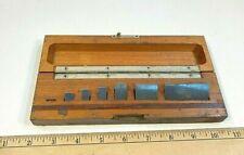 Vintage Brown Amp Sharpe C E Johnsson Gauge Block Set 6 Blocks