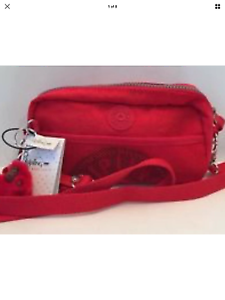 Crossbody Flab Small Bnwt Kipling Very Red Fisher Rrp Bag Candy 69 pWXqOBX