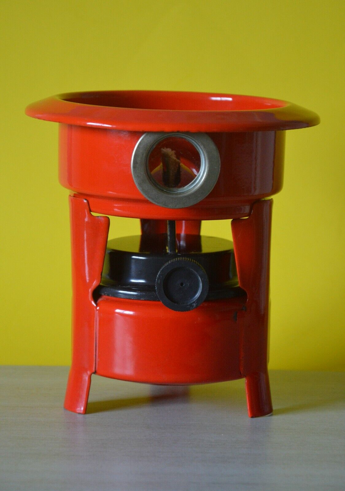 Vintage Enameled  Camping Stove by HALLER, Single Kepinkne Burner, color  Red  big savings