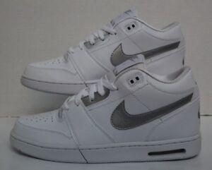 pretty nice 17547 365aa Image is loading Nike-Air-Stepback-White-Metallic-Silver-654476-102-
