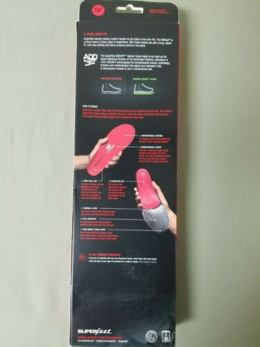 New Mens Superfeet Redhot Arch Support Insoles.