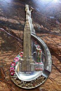 Vintage NEW YORK CITY Souvenir Ashtray Statue of Liberty & Empire State Building