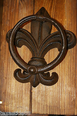 (1) PC, DOOR KNOCKER, FLEUR DE LIS DOOR KNOCKER, FLEUR DE LIS HOME DECOR, FRENCH